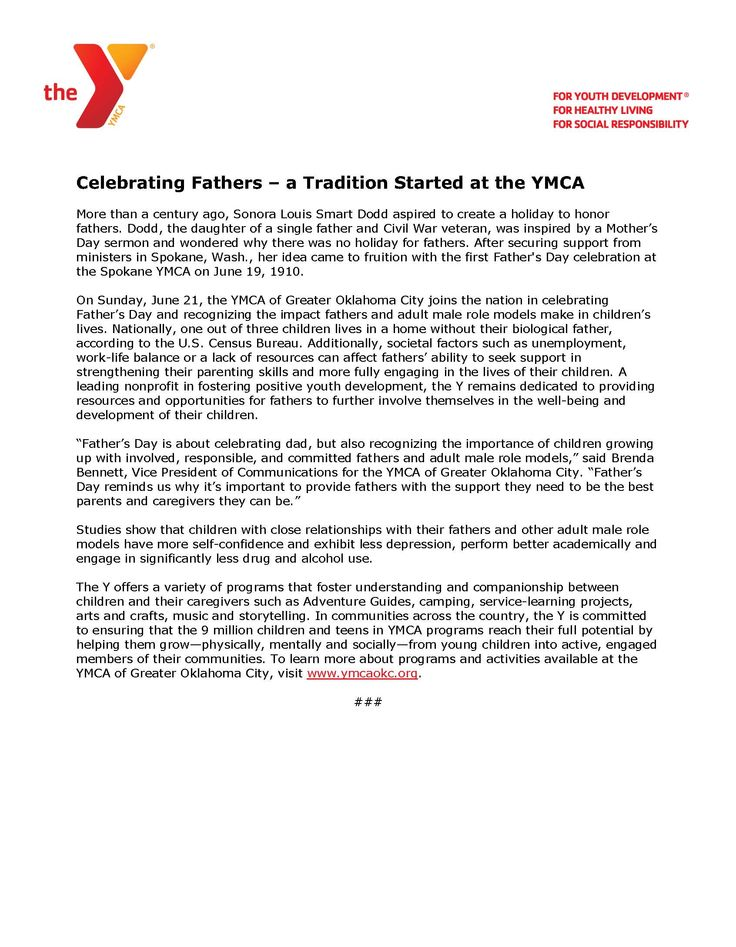 Celebrating Fathers- A Tradition Started at the YMCA.