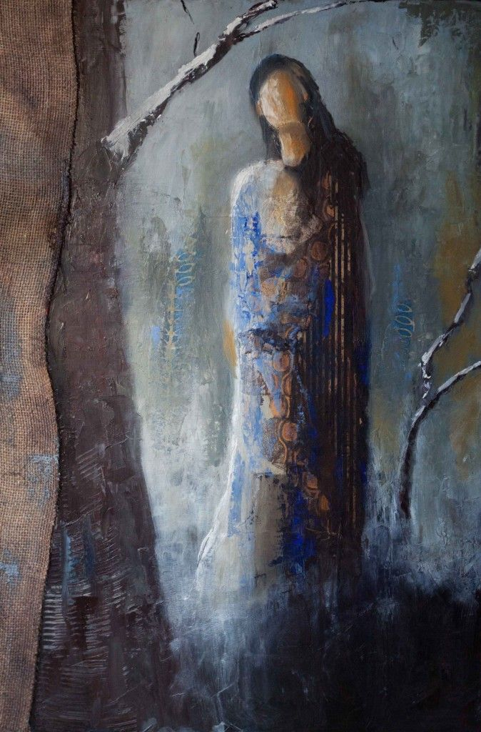 """""""One Cold Winter Night"""" by Shelby McQuilkin. mixed media"""