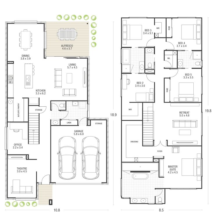 319 best Maison à étage images on Pinterest Floor plans, Homes and - plan maison etage 100m2
