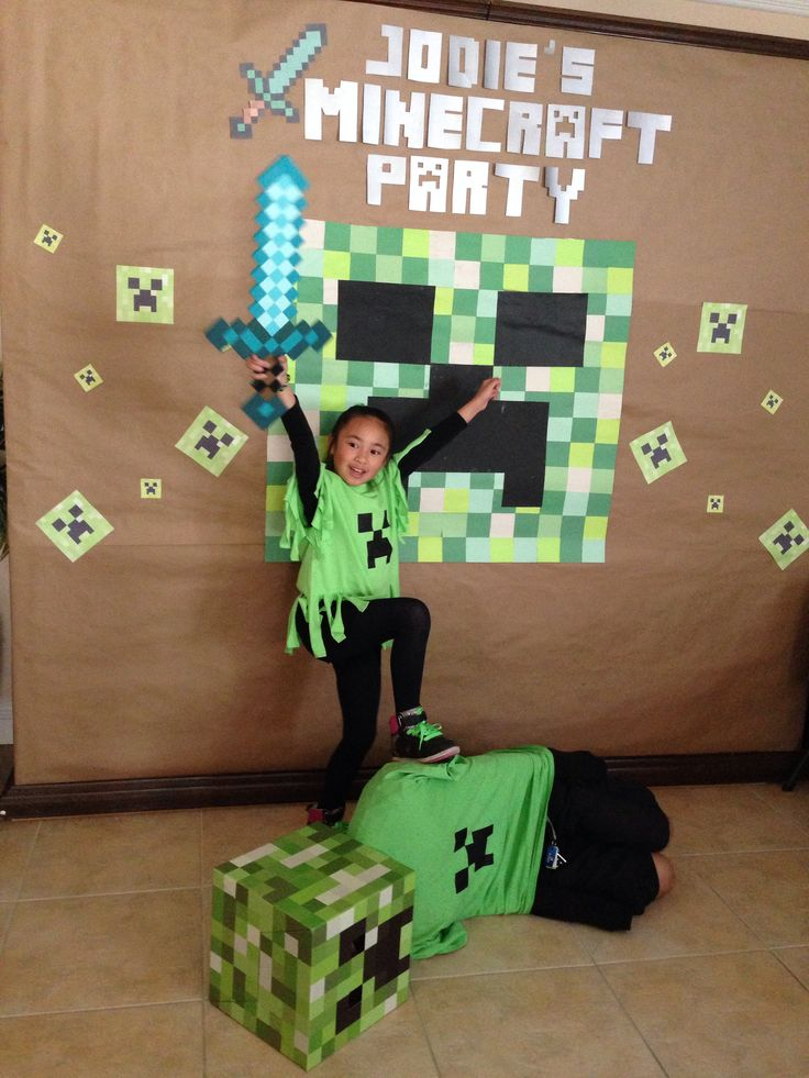 Minecraft Backdrop Minecraft Party Decoration