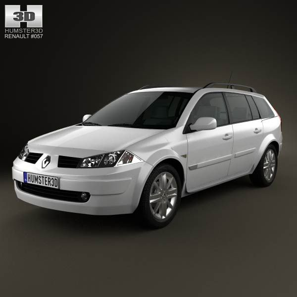 Renault Megane Grandtour 2003 3d model from humster3d.com. Price: $75