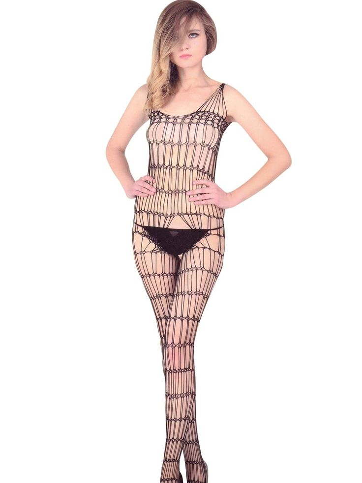 Shyle Black Stripes Body Stocking