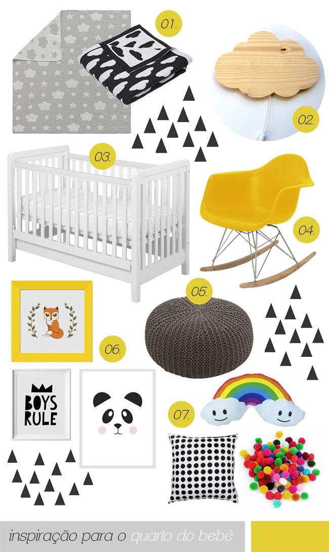 +1000 ideias sobre Berçário Amarelo E Cinza no Pinterest