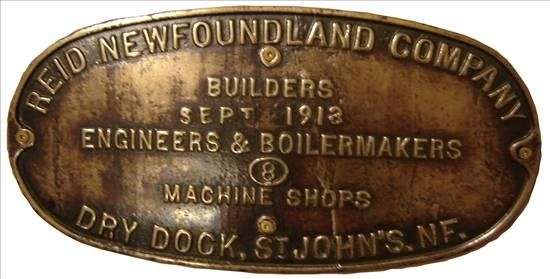 Boiler plate from steam engine, 1913.