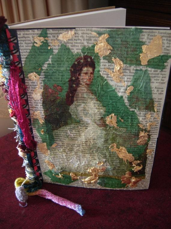The Past Times Art Journal  romanticvintage art journal by eltsamp, $58.00