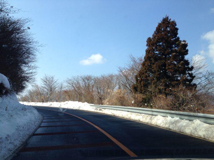 雪山ドライブ♡