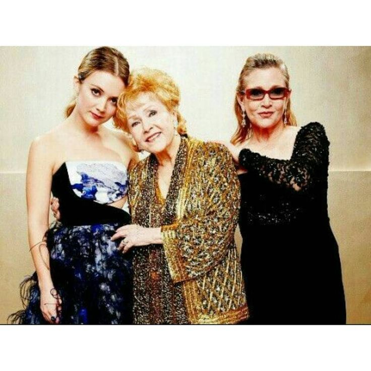 Three generations of greatness;  Billie Lourd, Debbie Reynolds, and Carrie Fisher. 💞 All talented, beautiful, strong and admirable women. 🙏