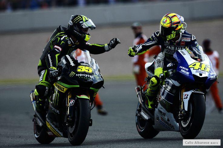 IDOLS!! Cal Crutchlow 35 & Valentino Rossi 46