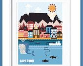 Cape Town, South Africa #poster #print #south Africa #africa #mother #city