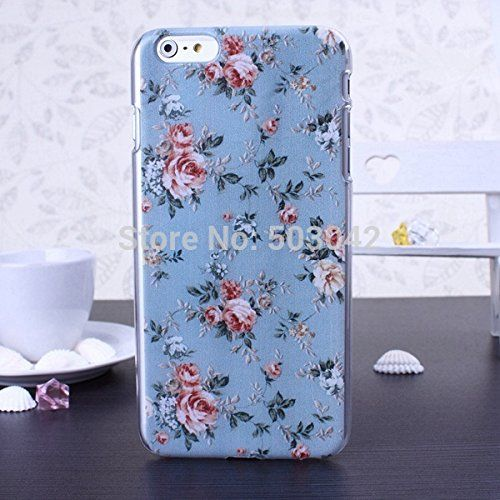 DESIGNER STYLE TRENDY IPHONE 6 FLORAL ROSE VINTAGE PRINT CASE/COVER by iM (blue) MiMi http://www.amazon.co.uk/dp/B00VAJ229C/ref=cm_sw_r_pi_dp_fISNvb0Z5E4PH