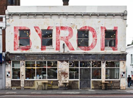 sinage Byron Burgers, Upper Street
