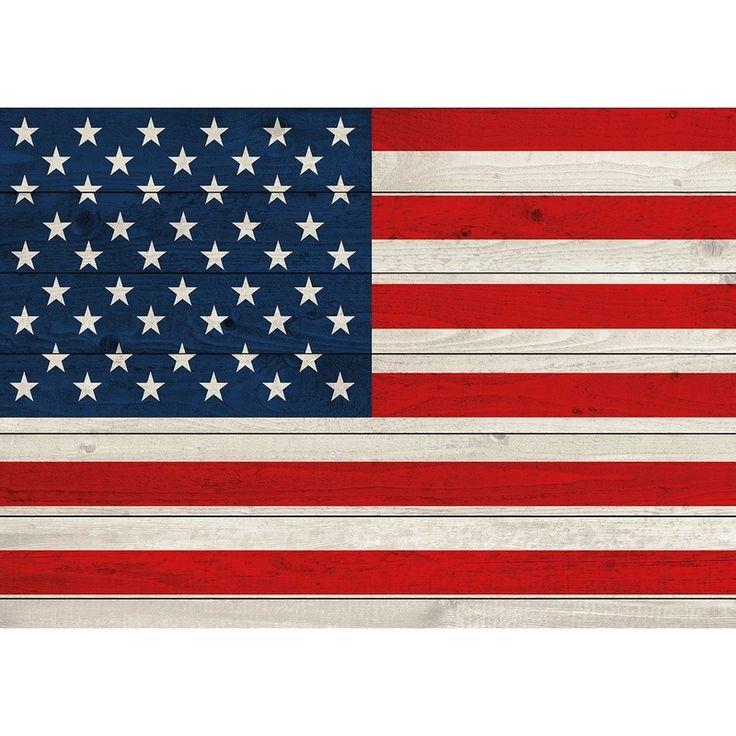 Amerikaanse vlag vintage woodlook poster voor op de muur, deur of het raam. Het formaat van deze Amerikaanse vlaggen poster is A1(84 x 59 cm) en is liggend/horizontaal. Materiaal: zwaar papier. De poster wordt geleverd in een koker.