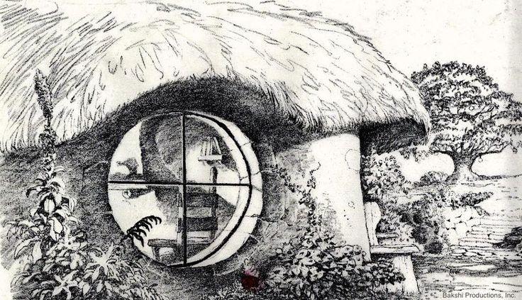 #Bilbo's house by Mike Ploog #LOTR #Tolkien