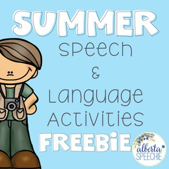 """Parents asking you """"What can we do over the summer?"""" Here is a newsletter that has a new speech or language activity every day. These are parent-friendly activities that use materials from home (one exception, you will need to send cards home to do many of the speech activities)."""