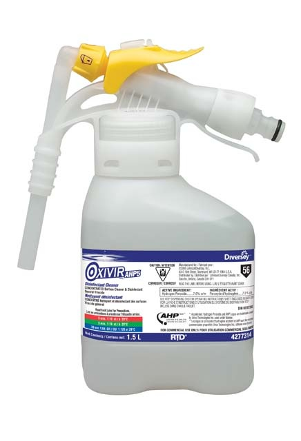 Disinfectant Oxivir AHP5: A one-step disinfectant cleaner based on proprietary hydrogen peroxide