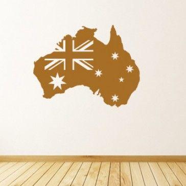 Australia Map Flag of Australia Wall Sticker Wall Art Decal - Australia - People & Places