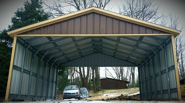 Metal Carports With Sides : Best enclosed carport ideas on pinterest side car