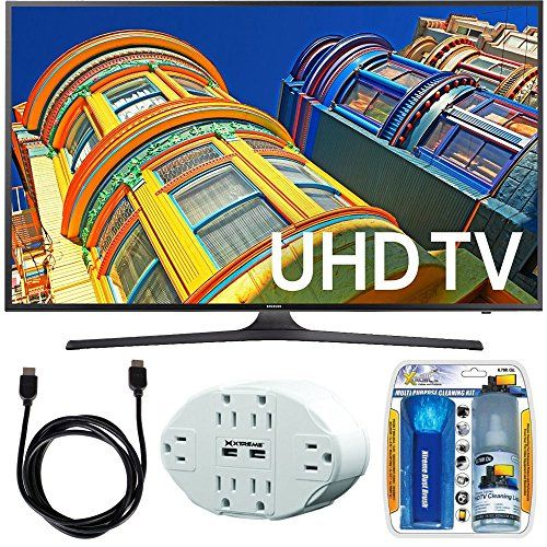 Bundle Includes Samsung UN43KU6300 - 43-Inch Smart 4K UHD LED TV Performance TV/LCD Screen Cleaning Kit 6 Outlet Home and Office Power Strip with Dual USB Ports HDMI to HDMI Cable 6' Enjoy 4K Ultra HD...