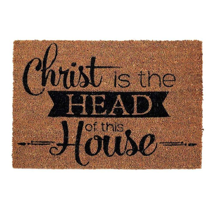 A Christ-centered door mat for the Christ-centered home.