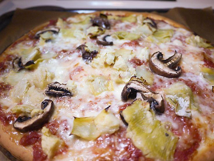 Glutenfri pizza med kronärtskocka