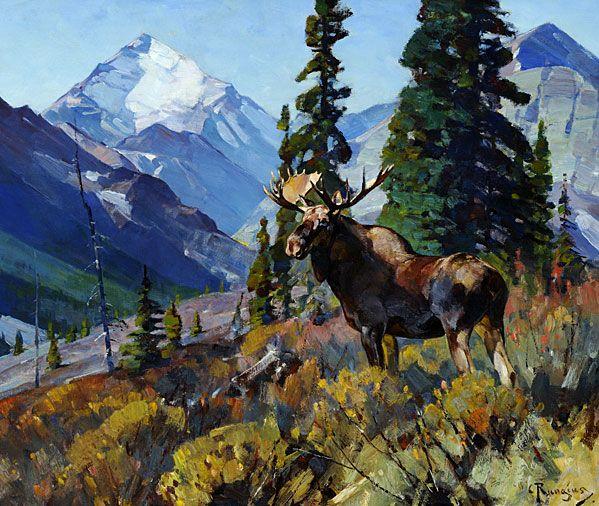 Carl Rungius, Moose at Head of Ram River, NMWA collection