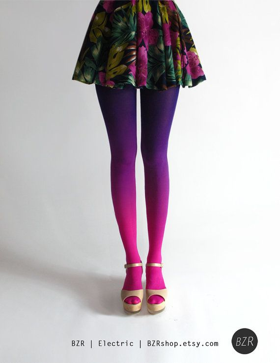 ombre tights by BZR on etsy