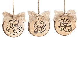 Wood Tree Trunk Ornaments