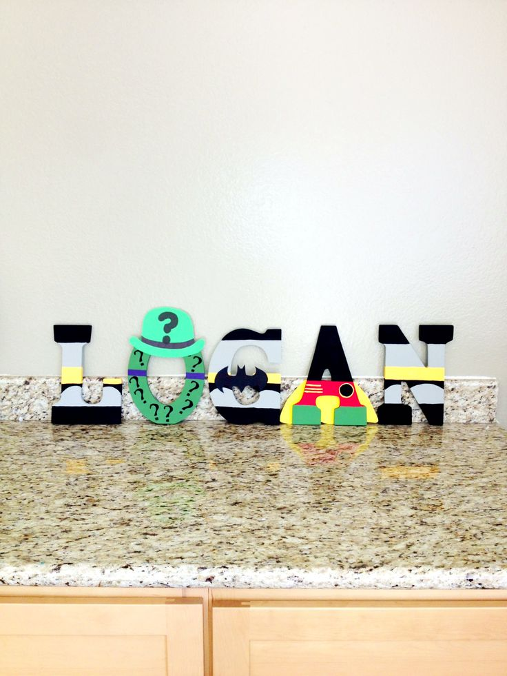 Batman letters done by us Candied Confections