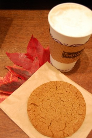 A Ginger Spice Cookie sold at Peet's. It's cool to see pastries at other Peet's locations—find ours in Northern CA, from Salinas to Woodland!
