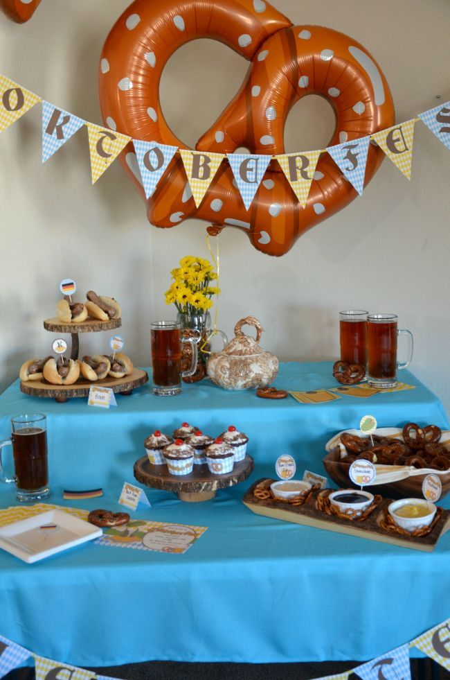 Celebrate: Oktoberfest Party! Make your own beer, beer tasting printables and delicious food ideas.