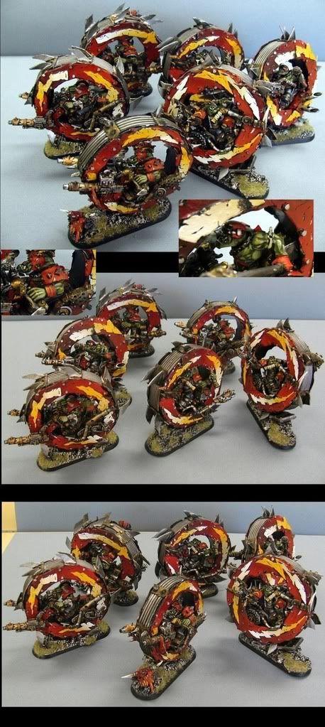 ork warbikes (monowheel style), Kustom, 40k