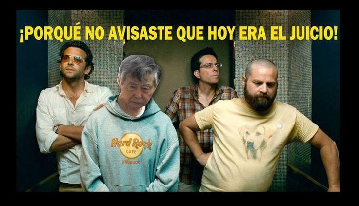 Memes sobre look de #AlbertoFujimori en juicio por diarios chicha. #trome