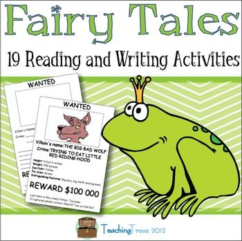 Fairy Tales is a literacy unit that contains activity sheets, comprehension graphic organizers and writing activities. There are 19 fairy tale activities in total. Print in color or if you prefer a black ink copy is included.