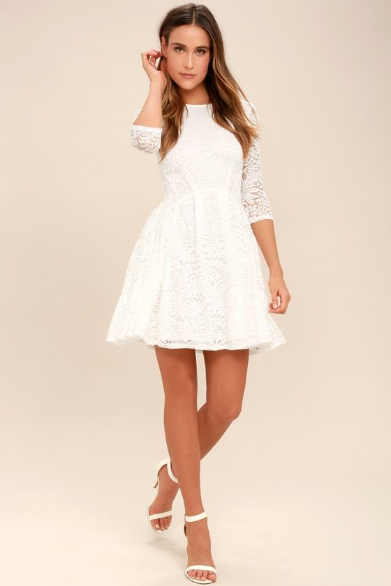 4f7e3a19da8 It s a New Day White Lace Skater Dress in 2019