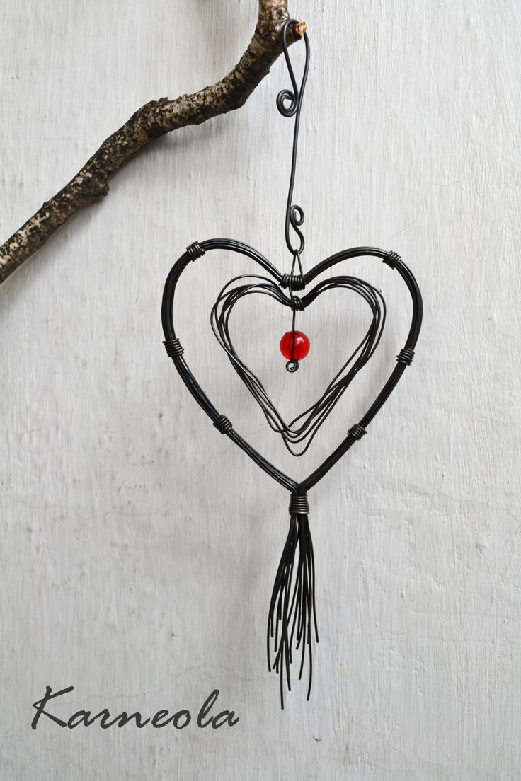 100+ best wire art - hearts images by Iva Brožková on Pinterest ...