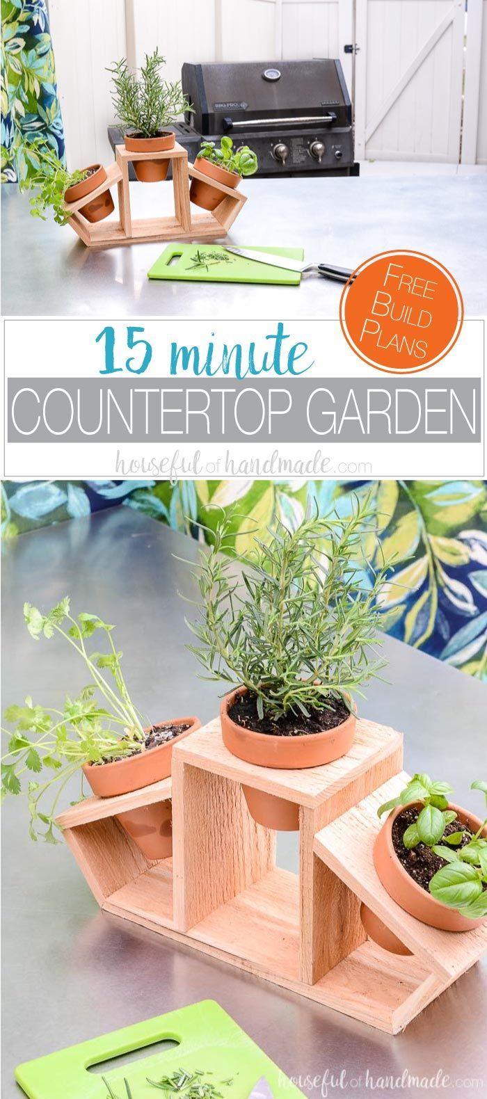 15 Minute Countertop Herb Garden Herbs Indoors Indoor Herb