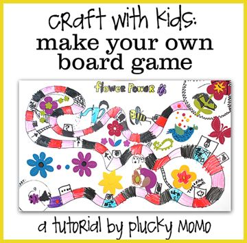 Creative fun for kids when they ca make their own board games. Great idea for a rainy afternoon, bored kids during holiday breaks, and a wonderful family time idea.