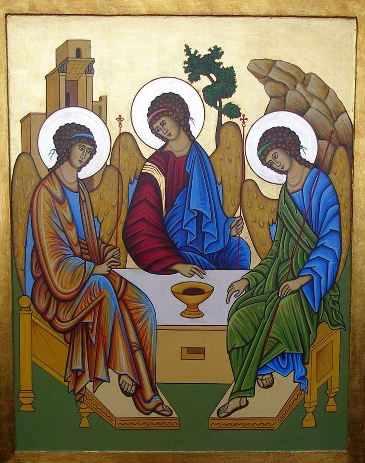 Улыбочку нарисованная, икона троица открытки