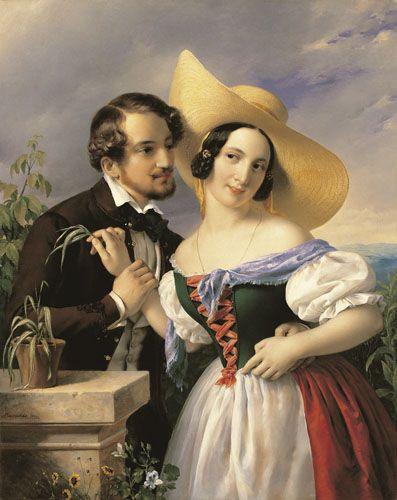 Barabás, Miklós Flirting  1841 Oil , Canvas  106,5 x 85 cm  Inv.: 50.442