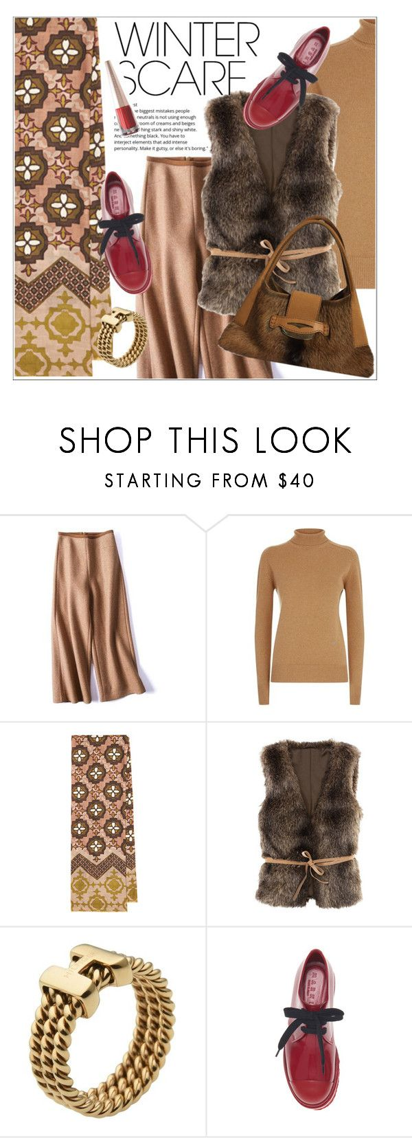 """""""Winter Scarf"""" by vinograd24 ❤ liked on Polyvore featuring Victoria Beckham, Tommy Hilfiger, Tod's, Puma and winterscarf"""