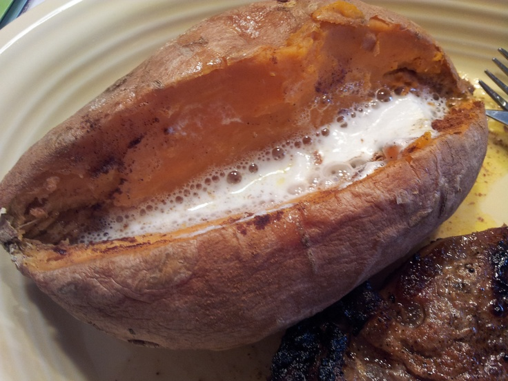 The 25 best sweet potato in microwave ideas on pinterest baked baked sweet potato in microwave for 5 minutes add butter cinamon and marshmallow microwave for another 45 sec turned out really good and easy ccuart Choice Image