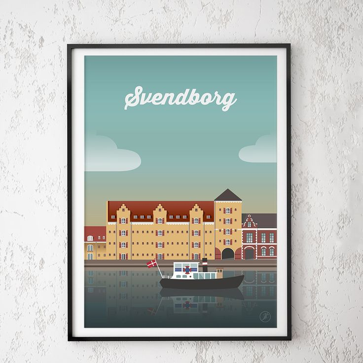 svendborg. poster, design, art, illustration, adobe, artwork, Denmark