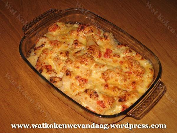 Gegratineerde schorseneren met paprika-kaassaus