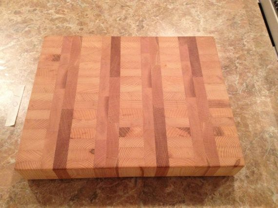 Large Heavy Duty End Grain Cutting Board Solid by GWCWoodcrafts