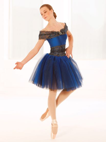 Rhapsody in Blue - Style 0358 | Revolution Dancewear Ballet Dance Recital Costume