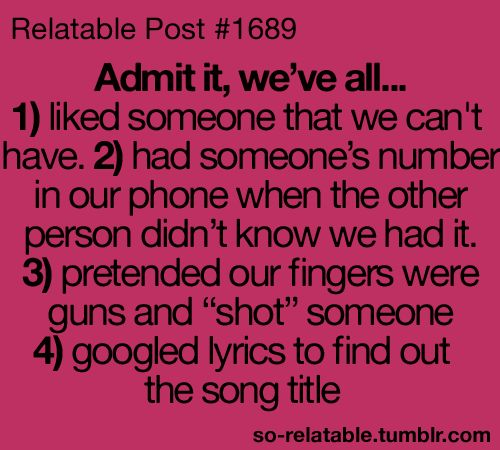 I do number four all the time :)