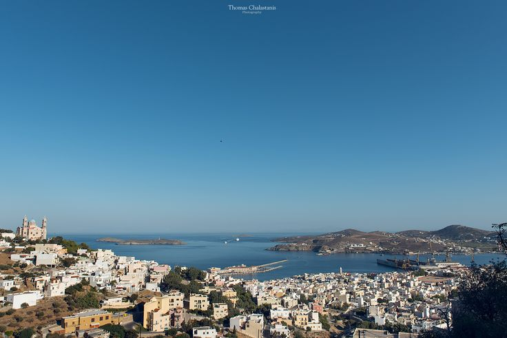 Syros island, Cyclades. Summer 2017 photo taken from Ano Syra.