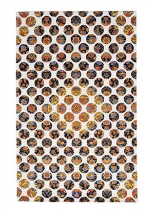 i i polka dots goodweave certified rug colorful rugsmodern area - Colorful Area Rugs