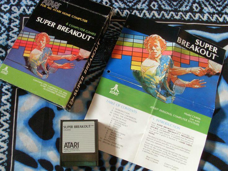 Super Breakout ATARi 600 800 XE GS XL Complete 65XE 130XE