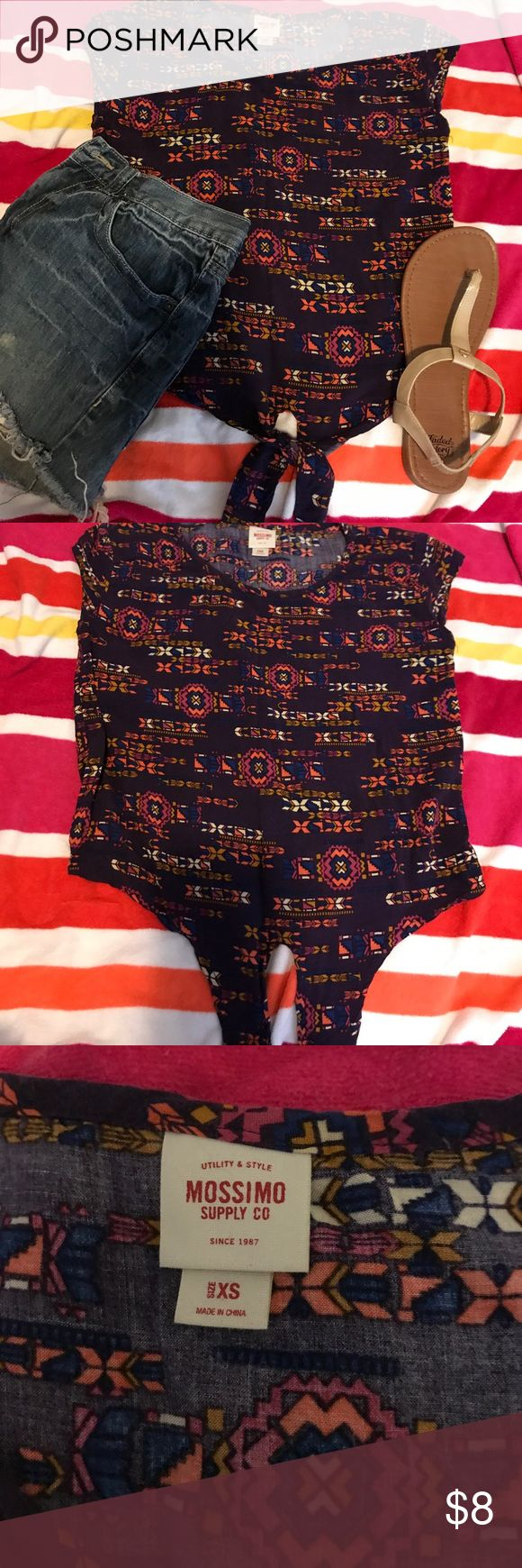 PURPLE AZTEC CROP TOP has a tie in the front. Size xs. Mission supply co. Great condition! :)) 🎀 make an offer! I usually don't counteroffer! 🎀 bundle items for a lower price! 🎀no trades 🎀no returns if item does not fit. You can ask for measurements! Mossimo Supply Co Tops Crop Tops